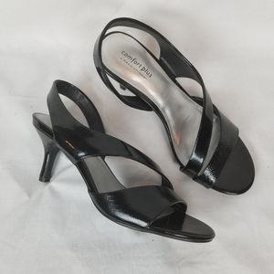 Comfort plus sz 9W kitten heels pumps dress shoes